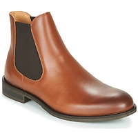 kengät Miehet Bootsit Selected LOUIS LEATHER CHELSEA Cognac
