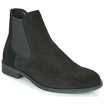 kengät Miehet Bootsit Selected LOUIS SUEDE CHELSEA Black