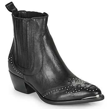 kengät Naiset Nilkkurit Ikks BP80075-03 Musta