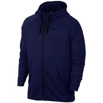 vaatteet Miehet Svetari Nike Dry FZ Fleece Hoodie Trening Tummansininen