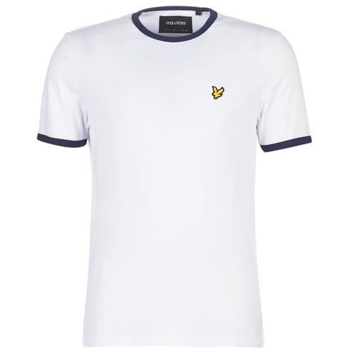 vaatteet Miehet Lyhythihainen t-paita Lyle & Scott TS705V-Z660 White