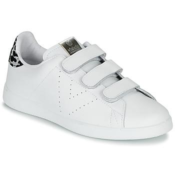 kengät Naiset Matalavartiset tennarit Victoria TENIS VELCRO PIEL White