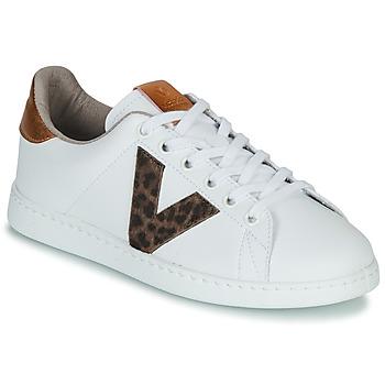 kengät Naiset Matalavartiset tennarit Victoria TENS PRINT White