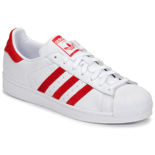 kengät Matalavartiset tennarit adidas Originals SUPERSTAR White / Red