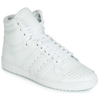 kengät Miehet Korkeavartiset tennarit adidas Originals TOP TEN HI White