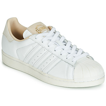 kengät Matalavartiset tennarit adidas Originals SUPERSTAR White / Beige