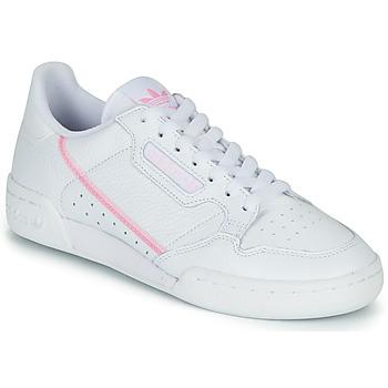 kengät Naiset Matalavartiset tennarit adidas Originals CONTINENTAL 80 W White / Pink
