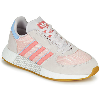 kengät Naiset Matalavartiset tennarit adidas Originals MARATHON TECH W Grey / Pink