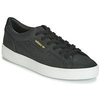 kengät Naiset Matalavartiset tennarit adidas Originals SLEEK W Musta