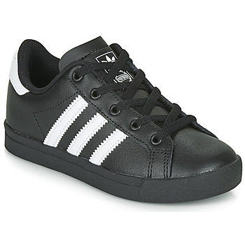 kengät Lapset Matalavartiset tennarit adidas Originals COAST STAR C Black / White
