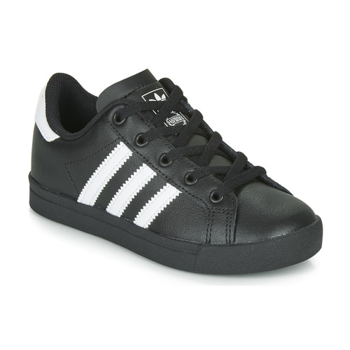 kengät Lapset Matalavartiset tennarit adidas Originals COAST STAR C Black / White