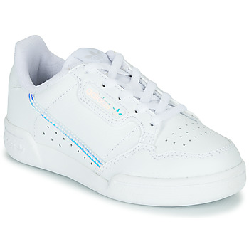 kengät Lapset Matalavartiset tennarit adidas Originals CONTINENTAL 80 C White / Blue
