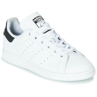 kengät Lapset Matalavartiset tennarit adidas Originals STAN SMITH J White / Black