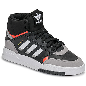 kengät Pojat Matalavartiset tennarit adidas Originals DROP STEP J Black / Grey