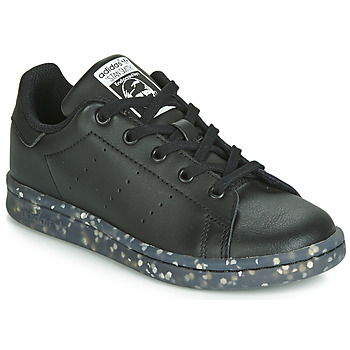 kengät Lapset Matalavartiset tennarit adidas Originals STAN SMITH C Black