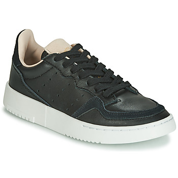 kengät Lapset Matalavartiset tennarit adidas Originals SUPERCOURT J Black