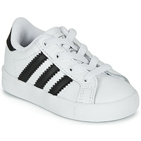 kengät Lapset Matalavartiset tennarit adidas Originals COAST STAR EL I White / Black