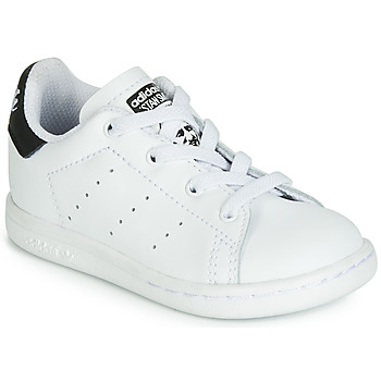 kengät Lapset Matalavartiset tennarit adidas Originals STAN SMITH EL I White / Black