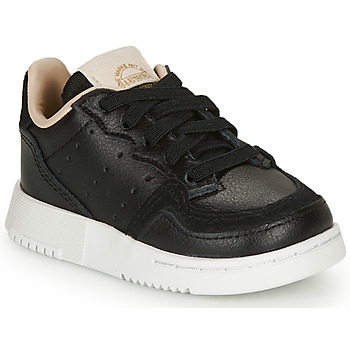 kengät Lapset Matalavartiset tennarit adidas Originals SUPERCOURT EL I Black