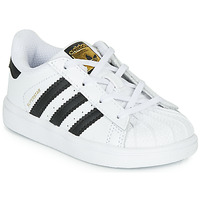 kengät Lapset Matalavartiset tennarit adidas Originals SUPERSTAR I White / Black