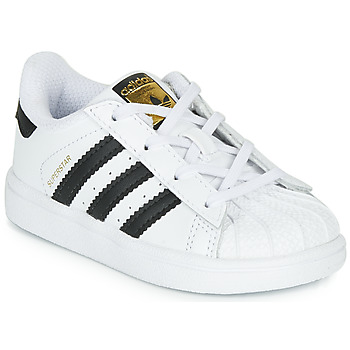 kengät Lapset Matalavartiset tennarit adidas Originals SUPERSTAR I White