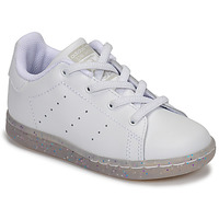 kengät Tytöt Matalavartiset tennarit adidas Originals STAN SMITH EL I White / Glitter