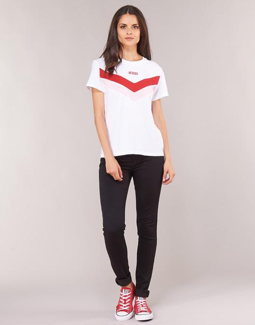 vaatteet Naiset Skinny-farkut Levi's 721 HIGH RISE SKINNY Long / Shot