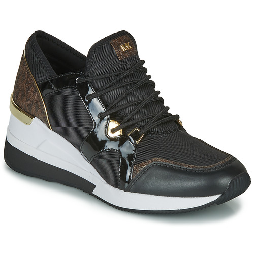 kengät Naiset Matalavartiset tennarit MICHAEL Michael Kors LIV TRAINER Black / Brown