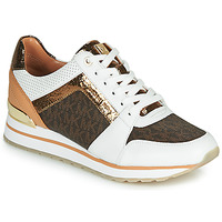 kengät Naiset Matalavartiset tennarit MICHAEL Michael Kors BILLIE TRAINER White / Brown