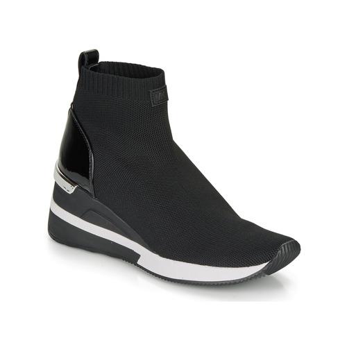 kengät Naiset Korkeavartiset tennarit MICHAEL Michael Kors SKYLER Black
