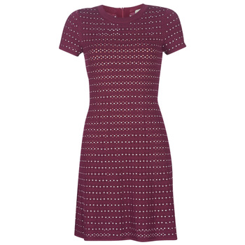 vaatteet Naiset Lyhyt mekko MICHAEL Michael Kors EMBELL FLARE MINI DRS Bordeaux