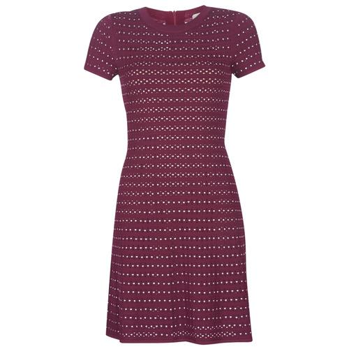 vaatteet Naiset Lyhyt mekko MICHAEL Michael Kors EMBELL FLARE MINI DRS Viininpunainen