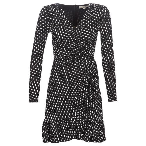vaatteet Naiset Lyhyt mekko MICHAEL Michael Kors ELV DOT SHRD LS DRS Black