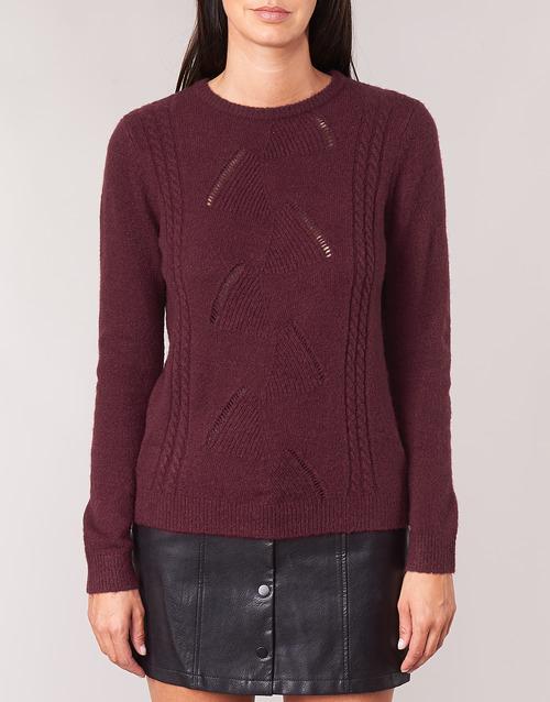 Betty London Louisa Bordeaux - Ilmainen Toimitus- Vaatteet Neulepusero Naiset 32
