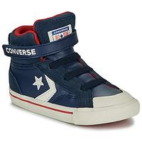 kengät Lapset Korkeavartiset tennarit Converse PRO BLAZE STRAP - HI Sininen