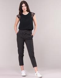vaatteet Naiset 5-taskuiset housut Betty London LAALIA Musta / Valkoinen