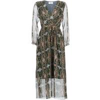 vaatteet Naiset Pitkä mekko Betty London LILIE-ROSE Green / Multicolour