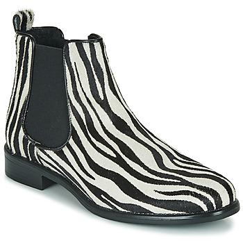 kengät Naiset Bootsit Betty London HUGUETTE Black / White / Oliivi / keltainen