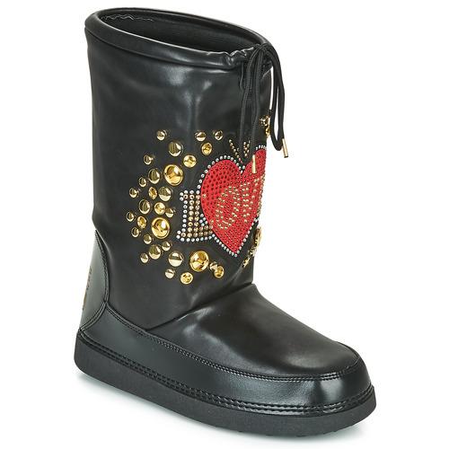 kengät Naiset Talvisaappaat Love Moschino SKI BOOT Musta