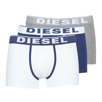 Alusvaatteet Miehet Bokserit Diesel DAMIEN White / Laivastonsininen / Grey