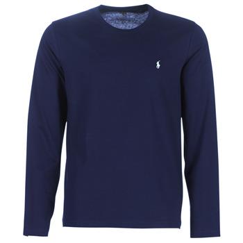 vaatteet Miehet T-paidat pitkillä hihoilla Polo Ralph Lauren L/S CREW-CREW-SLEEP TOP Laivastonsininen