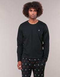 vaatteet Miehet T-paidat pitkillä hihoilla Ralph Lauren L/S CREW-CREW-SLEEP TOP Black