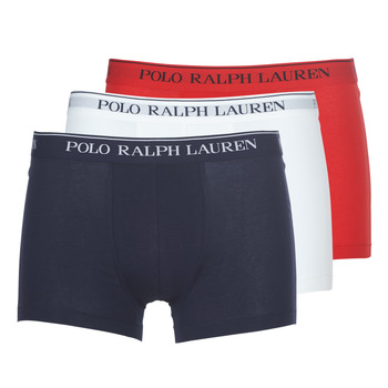 Alusvaatteet Miehet Bokserit Polo Ralph Lauren CLASSIC-3 PACK-TRUNK Blue / White / Red