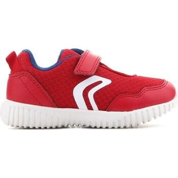 kengät Lapset Matalavartiset tennarit Geox B Waviness Punainen