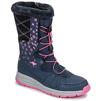kengät Naiset Kumisaappaat Kangaroos K-GLAZE RTX Laivastonsininen / Pink