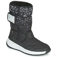 kengät Tytöt Talvisaappaat Kangaroos K-FLUFF RTX Black / Grey