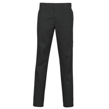 vaatteet Miehet 5-taskuiset housut Dickies SLIM FIT WORK PNT Black