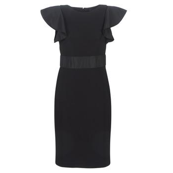 vaatteet Naiset Lyhyt mekko Lauren Ralph Lauren JERSEY SLEEVELESS COCKTAIL DRESS Black