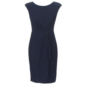 vaatteet Naiset Lyhyt mekko Lauren Ralph Lauren RUCHED CAP SLEEVE DRESS Laivastonsininen