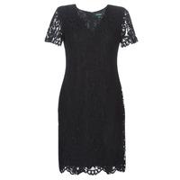 vaatteet Naiset Lyhyt mekko Lauren Ralph Lauren SCALLOPED LACE DRESS Black